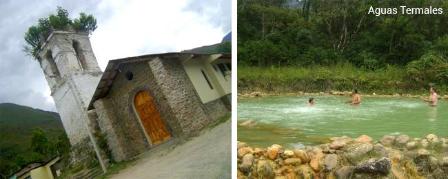 Iglesia de Uchubamba y Aguas termales de Uchubamba